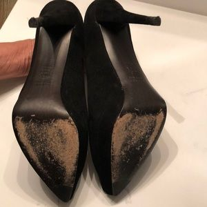 """Stuart Weitzman Shoes - Stuart weitzman black suede platform 5 """" heels"""